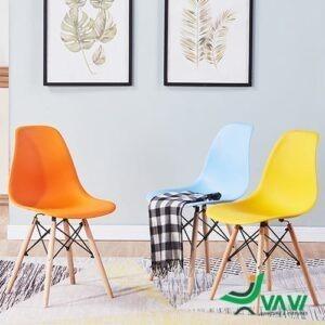 ghế ăn ghế cafe Eames nhựa nhiều màu