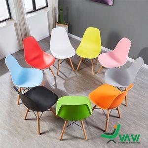Ghế cafe Eames nhựa nhiều màu giá rẻ