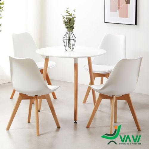 Bộ bàn tròn 4 ghế hiện đại nhập khẩu