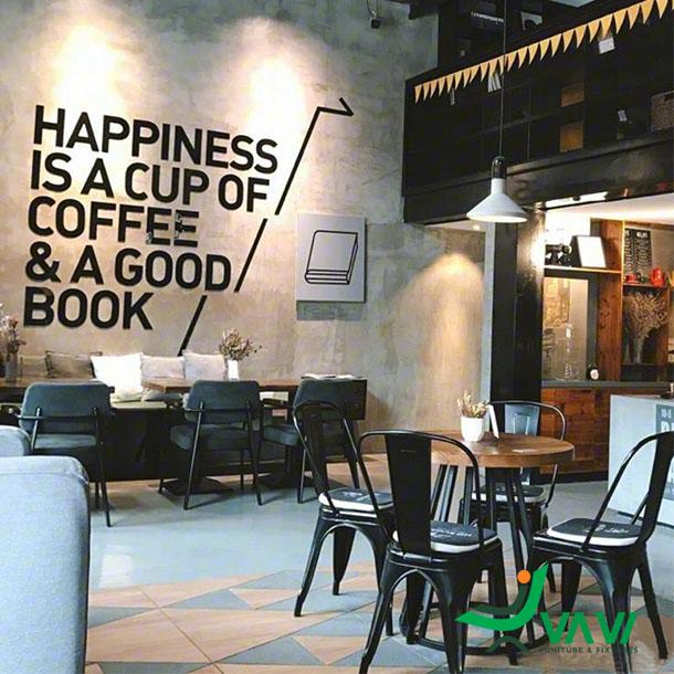 Ghế cafe tolix có tựa