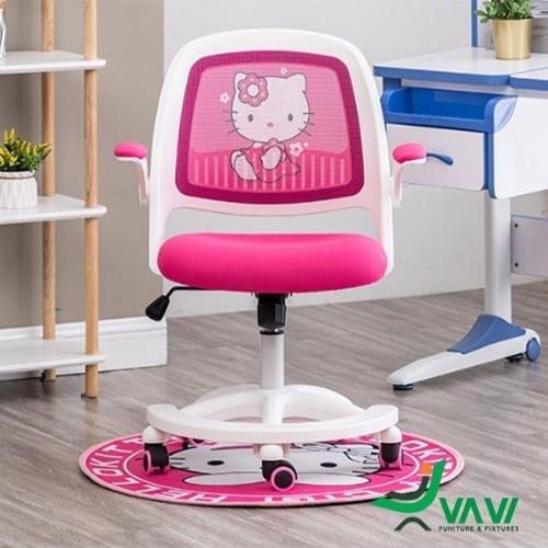 Ghế ngồi học bài cho bé gái màu hồng hình hello kitty tại hà nội