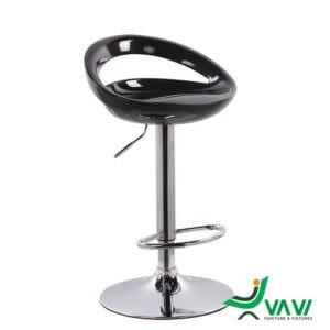 ghế bar nhựa hiện đại màu đen
