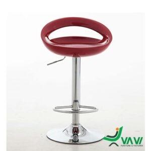 ghế bar nhựa hiện đại màu đỏ