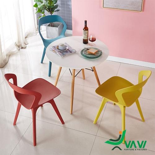 Bộ bàn 3 ghế cafe nhựa hiện đại