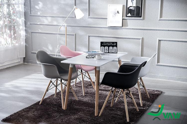 Bộ bàn ăn 4 ghế cánh thuyền hiện đại