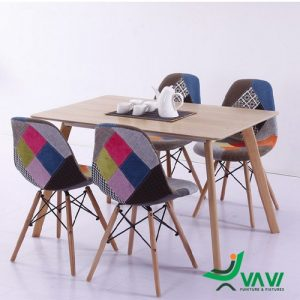 Bộ bàn ghế Eames thổ cẩm
