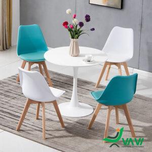 Bộ bàn tròn Tulip 4 ghế hiện đại nhập khẩu