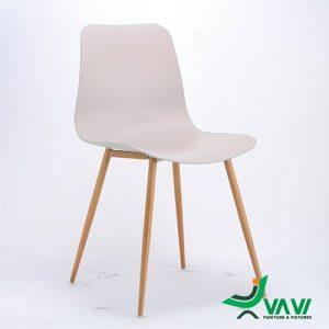 ghế ăn nhựa chân sắt hiện đại