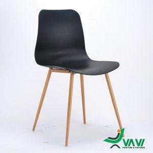 Ghế ăn nhựa chân sắt màu đen