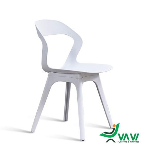 Ghế cafe nhựa hiện đại màu trắng