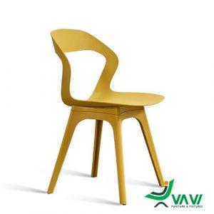 Ghế cafe nhựa hiện đại màu vàng