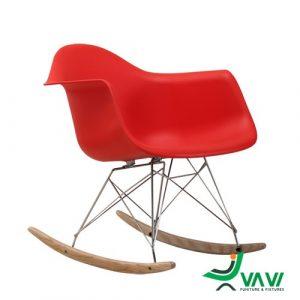 ghế thư giãn bập bênh màu đỏ