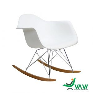 ghế thư giãn bập bênh màu trắng