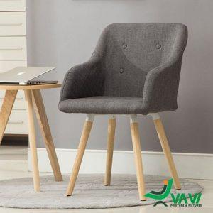 Ghế cafe bọc vải chân gỗ làm ghế làm việc