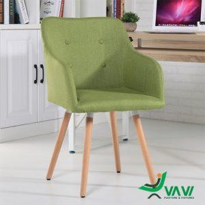 Ghế cafe bọc vải chân gỗ tại văn phòng