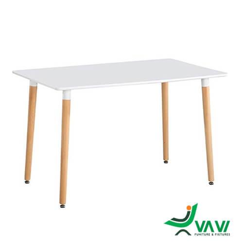 bàn ăn chữ nhật mặt gỗ MDF nhập khẩu