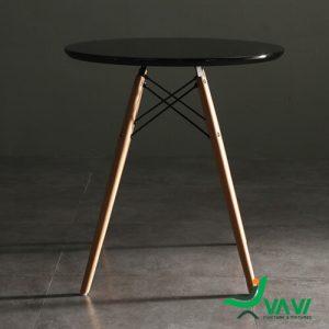 Bàn cafe tròn Eames mặt gỗ