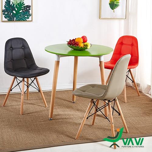 Bộ bàn ghế Eames bọc da giá rẻ