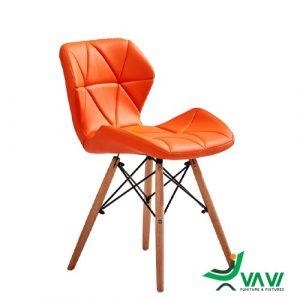 Ghế Eames lưng nệm tam giác màu cam