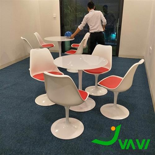 Bộ bàn ghế Tulip tiếp khách văn phòng