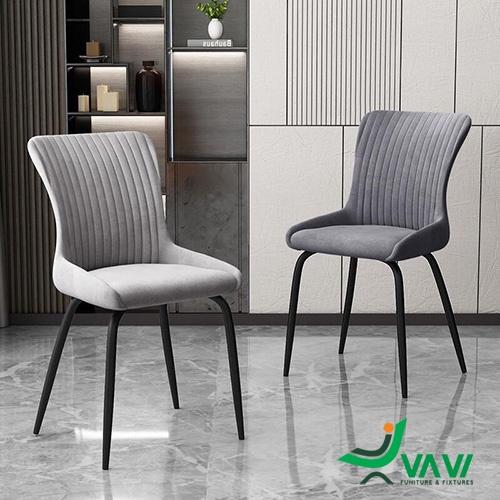 Ghế ăn ghế cafe bọc vải chân thép sơn tĩnh điện cao cấp