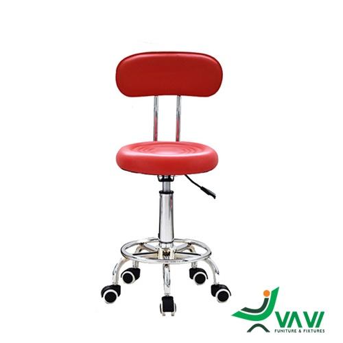 Ghế bar chân xoay có tựa cho nhân viên spa