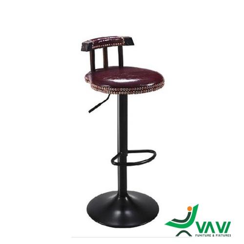 Ghế bar cổ điển yên gỗ nhập khẩu
