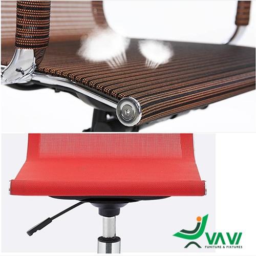 Ghế bar lưng lưới chân trụ nâng hạ