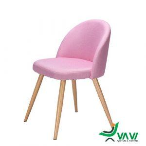 Ghế cafe phong cách Scandinavian màu hồng