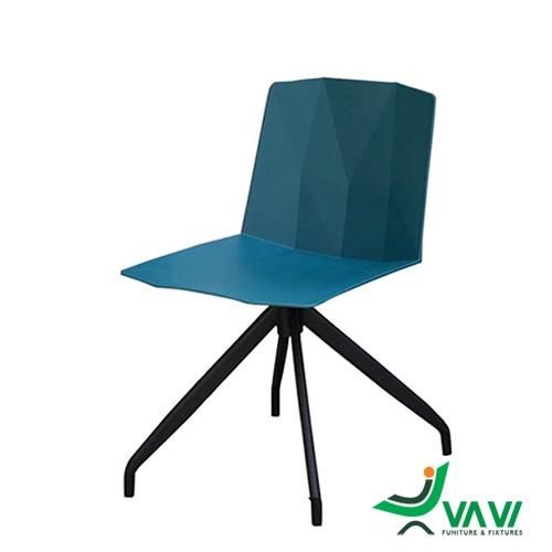 ghế nhựa tựa lưng chân sắt nhập khẩu VAVI