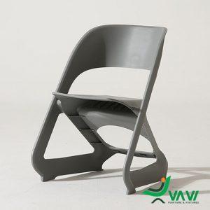 Ghế nhựa xếp chồng hiện đại màu xám