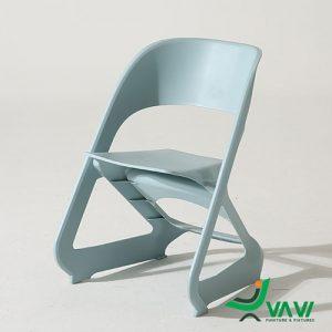 Ghế nhựa xếp chồng hiện đại màu xanh