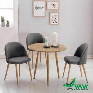 Bộ bàn ghế cafe phong cách scandinavian