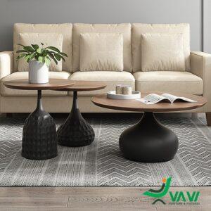 bàn sofa mặt gỗ phủ Veneer nhập khẩu cao cấp