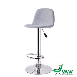 ghế quầy bar bọc vải chân nâng hạ nhập khẩu