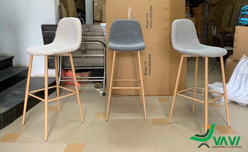 Ghế quầy bar bọc vải hiện đại