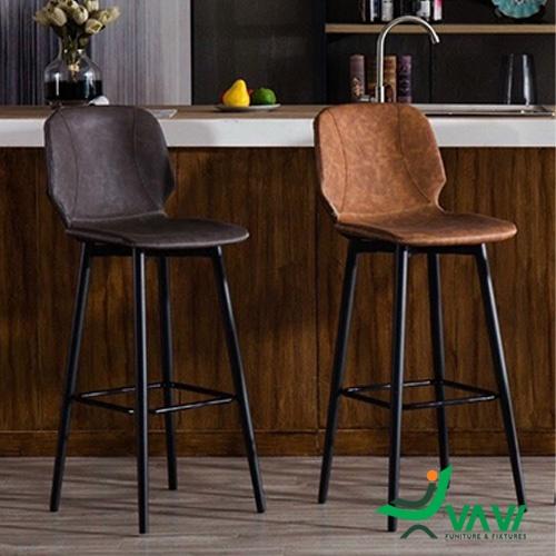 Ghế quầy bar cổ điển chân sắt sơn tĩnh điện