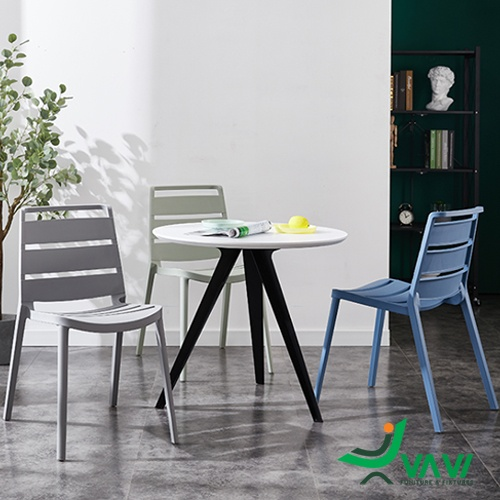 Ghế nhựa xếp chồng có tựa lưng