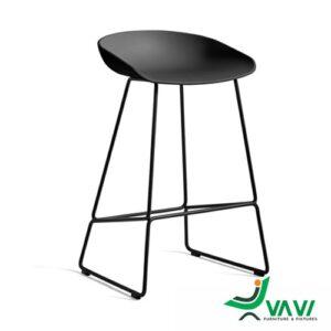 ghế quầy bar HAY Tool yên nhựa chân sắt
