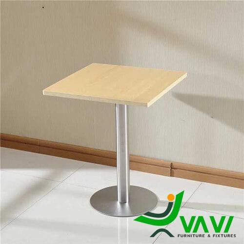 bàn ăn bàn cafe vuông mặt gỗ chân trụ nhập khẩu đẹp