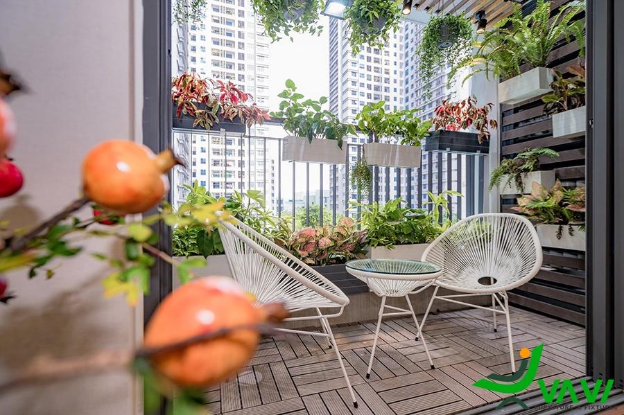 bàn ghế ban công đẹp cho chung cư hà nội