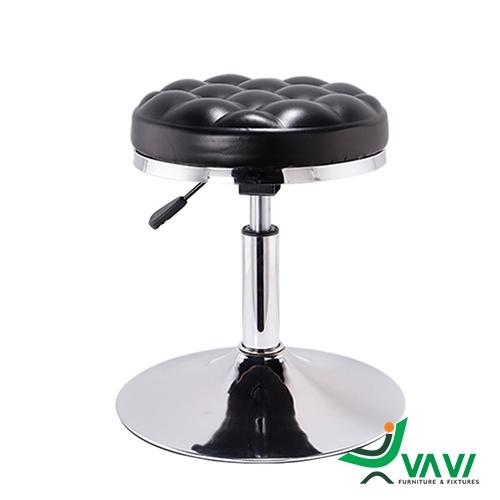 Ghế bar thấp yên xoay tròn chân trụ