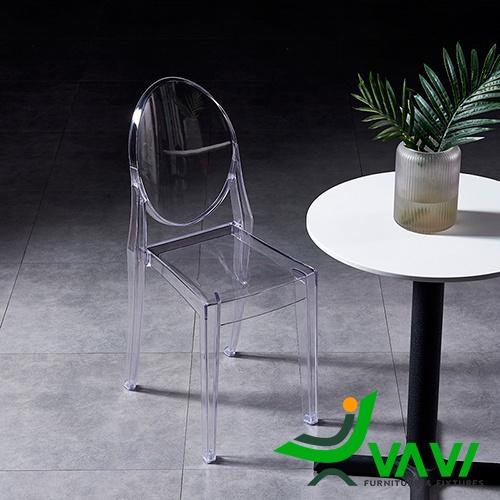Ghế café nhựa trong suốt Ghost