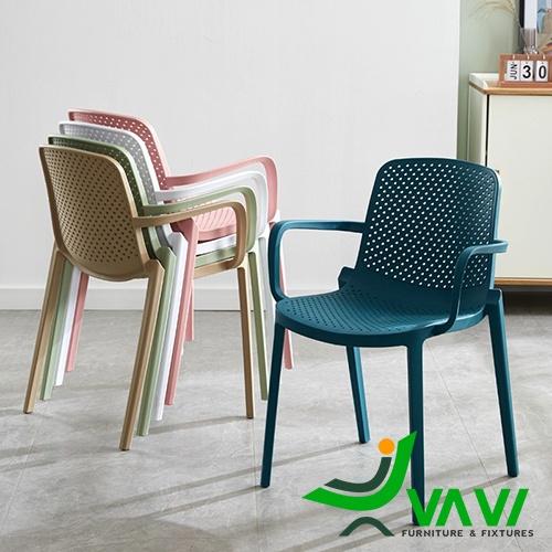 Ghế nhựa đúc có tay hiện đại nhập khẩu nhiều màu