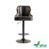 Ghế quầy bar chân sắt lưng gỗ bọc nệm Kazax nhập khẩu