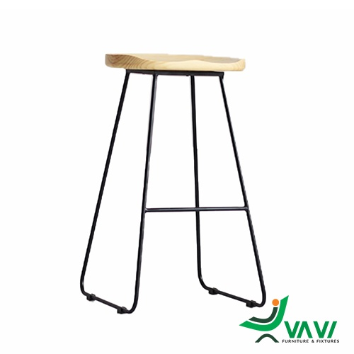 Ghế quầy bar chân sắt mặt gỗ cao cấp tại hà nội