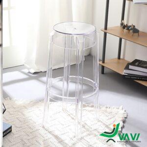 Ghế stool bar nhựa trong suốt hiện đại