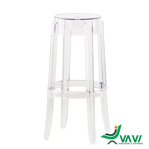 Ghế stool bar nhựa trong suốt hiện đại cá tính