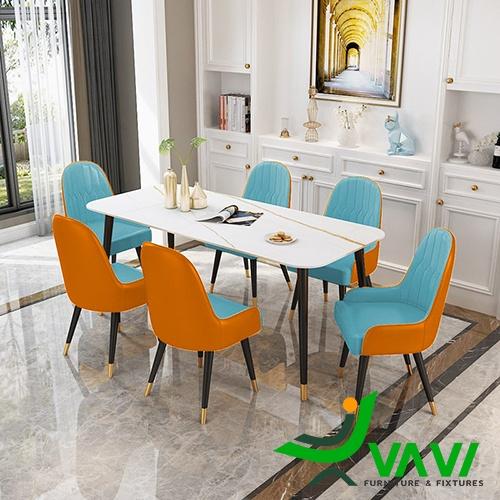 Bộ bàn ăn mặt đá hiện đại đẹp