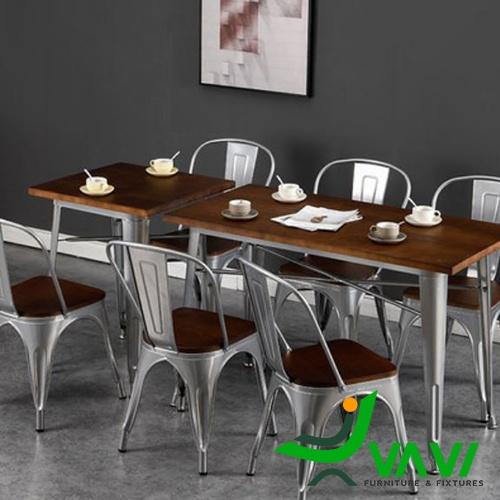 Bộ bàn ăn 6 ghế làm từ kim loại
